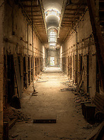 An abandoned wing of Eastern State Penitentiary in Philadelphia, PA.