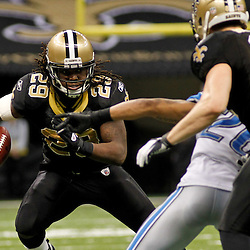 January 7, 2012; New Orleans, LA, USA; New Orleans Saints running back Chris Ivory (29) against the Detroit Lions during the 2011 NFC wild card playoff game at the Mercedes-Benz Superdome. Mandatory Credit: Derick E. Hingle-US PRESSWIRE