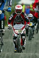 Sykling, BMX Racing, EM - runde 7 og 8, <br />Sandnes 19-20 juni 2004, <br />Pablo Gutierrez (France),<br />Foto: Sigbjørn Andreas Hofsmo, Digitalsport