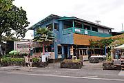 Sea-side restaurant and shops. Kailua-Kona, Big Island, Hawaii