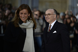 Newly appointed French Prime minister Bernard Cazeneuve and outgoing French Prime Minister Manuel Valls' wife Anne Gravoin during a ceremony of transfer of power, at the Hotel Matignon in Paris, France, on December 6, 2016. Valls has resigned to declare himself a candidate for the presidency, four days after President Francois Hollande announced he would not seek re-election next May 2017. Photo by Eliot Blondet/ABACAPRESS.COM