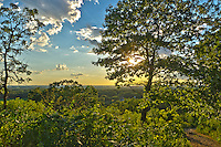 Bald Bluff is a 200 foot hill near Whitewater, Wisconsin. The top of the bluff provides great views to the west as the sun sets. Hundreds of years ago, Native Americans would use this bluff for smoke signals. This view was about halfway up along the trail.
