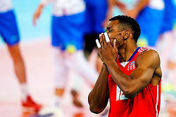 Jesus Herrera Jaime of Cuba disappointed during volleyball match between Cuba and Slovenia in Final of FIVB Volleyball Challenger Cup Men, on July 7, 2019 in Arena Stozice, Ljubljana, Slovenia. Photo by Matic Klansek Velej / Sportida