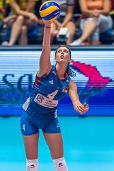07-06-2018 NED: Volleyball Nations League Netherlands - Serbia, Rotterdam<br /> Netherlands beat Serbia 3-2 / Bojana Zivkovic #4 of Servië