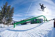 Maggie Voisin during <br /> Women's Ski Slopestyle Practice at 2014 X Games Aspen at Buttermilk Mountain in Aspen, CO. ©Brett Wilhelm/ESPN