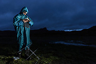 Kleinsäugerforscher von der University of South Bohemia aus Tschechien bei der Arbeit im Web Valley in der Region Sodota des Bale Mountains Nationalparks im Süden von Äthiopien