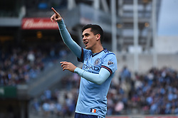 April 29, 2018 - Bronx, New York, USA - BRONX, New York - Saturday, April 29, 2018: New York City FC takes on FC Dallas at home at Yankee Stadium during the 2018 MLS regular season. (Credit Image: © Mike Lawrence/ISIPhotos via ZUMA Wire)