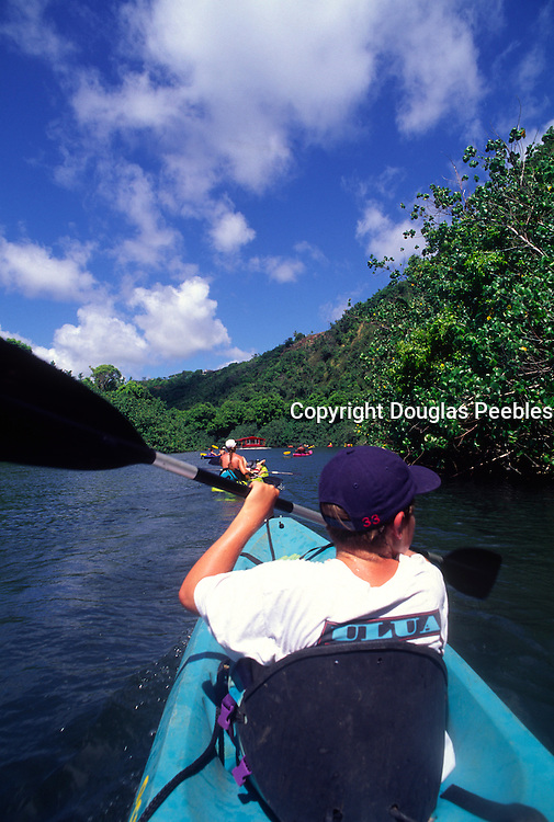Kayaking, Wailua River, Kapaa, Kauai, Hawaii<br />