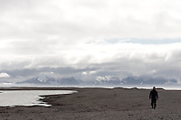 Trekking at Kvadehuken, Svalbard