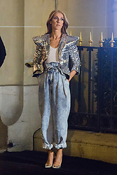 Celine Dion on film set for l'Oreal at Plaza Athenee Hotel in Paris on january 30, 2019. Photo by Nasser Berzane/ABACAPRESS.COM