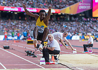 Athletics - 2017 IAAF London World Athletics Championships - Day One<br /> <br /> Event: Men's Long Jump Qualifying<br /> <br /> Quincy Breell (ARU) in the air <br /> <br /> <br /> COLORSPORT/DANIEL BEARHAM
