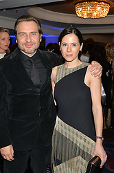 ELAINE CASSIDY and her husband STEPHEN LORD at the Chain of Hope Ball held in aid of the charity Chain of Hope, founded by Professor Sir Magdi Yacoub which organises volunteer teams worldwide to operate on children suffering from life-threatening heart diseases, held at the Grosvenor House Hotel, Park Lane, London on 20th November 2015.