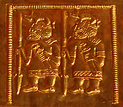 gold foils from the Staffordshire Hoard. Anglo-Saxon Art, from the 4th to the 7th Century