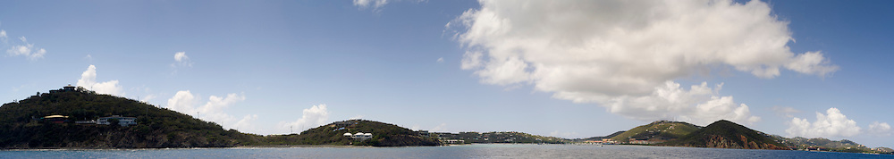 Panoramic view of Smith Bay and Red Hook, St. Thomas, US Virgin Islands