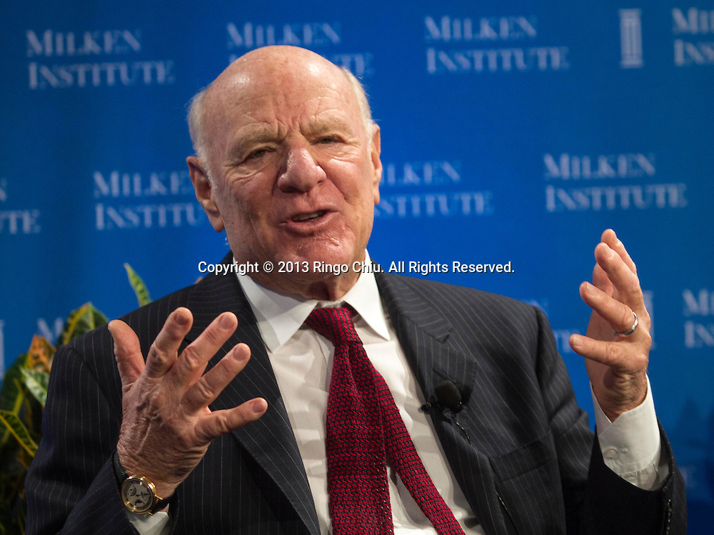 Barry Charles Diller, Chairman and Senior Executive, IAC; Chairman and Senior Executive, Expedia, Inc., speaks in a panel during the Milken Institute Global Conference Monday, APril 29, 2013 in Beverly Hill, California. (Photo by Ringo Chiu/PHOTOFORMULA.com).