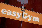 Sign for the health and fitness brand EasyGym in Birmingham, United Kingdom.