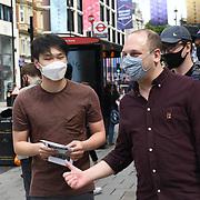 Protestors Anti-South Korea - Samsung sponsor Beijing2022 Olympic