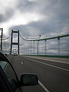 The new span across the Tacoma Narrows of Puget Sound in Washington state, USA