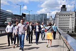 People on London Bridge, London UK 2017