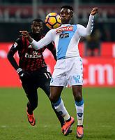 Amadou Diawara Napoli, M'Baye Niang Milan<br /> Milano 21-01-2017 Stadio Giuseppe Meazza - Football Calcio Serie A Milan - Napoli Foto Insidefoto