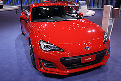09 February 2017:  Subaru BRZ 2 door coupe<br /> <br /> First staged in 1901, the Chicago Auto Show is the largest auto show in North America and has been held more times than any other auto exposition on the continent.  It has been  presented by the Chicago Automobile Trade Association (CATA) since 1935.  It is held at McCormick Place, Chicago Illinois<br /> #CAS17