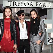 Naeem Mahmood, Bloom Twins arrives at Tresor Paris In2ruders - launch at Tresor Paris, 7 Greville Street, Hatton Garden, London, UK 13th September 2018.