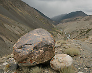 """Petroglyphs. Trekking from Shaur camp across Baharak, to the valley of Sang Nevishta (meaning """"Written Stones""""). Guiding and photographing Paul Salopek while trekking with 2 donkeys across the """"Roof of the World"""", through the Afghan Pamir and Hindukush mountains, into Pakistan and the Karakoram mountains of the Greater Western Himalaya. Wakhan Corridor."""