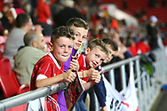 Young Bristol City fans during the EFL Sky Bet Championship match between Bristol City and Burton Albion at Ashton Gate, Bristol, England on 13 October 2017. Photo by John Potts.