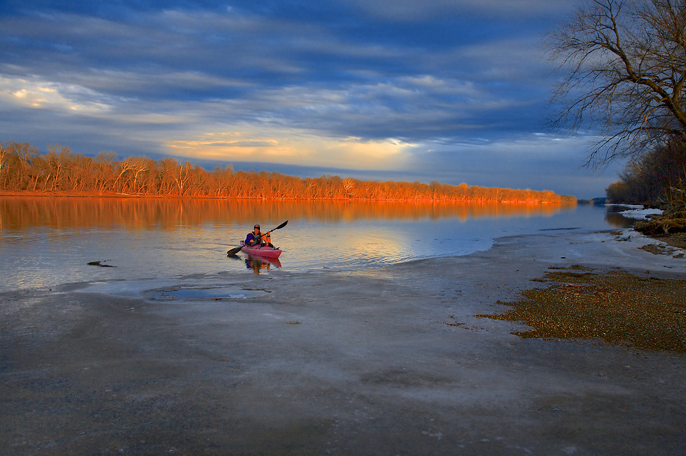 Winter Paddle on the Potomac