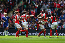 Goal, Danielle Carter of Arsenal Ladies scores, Arsenal Ladies FC 1-0 Chelsea Ladies FC - Mandatory byline: Jason Brown/JMP - 14/05/2016 - FOOTBALL - Wembley Stadium - London, England - Arsenal Ladies v Chelsea Ladies - SSE Women's FA Cup