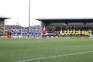 Wigan and Burton Albion observe minute applause in memory of Graham Taylor during the EFL Sky Bet Championship match between Burton Albion and Wigan Athletic at the Pirelli Stadium, Burton upon Trent, England on 14 January 2017. Photo by Richard Holmes.