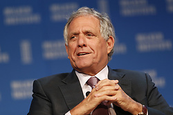 May 4, 2016 - Beverly Hills, CA, U.S. - Leslie Moonves, chairman, president and chief executive officer, CBS Corp., speaks during the annual Milken Institute Global Conference in Beverly Hills , California, U.S., on Wednesday, May 4, 2016.  © 2016 Patrick T. Fallon (Credit Image: © Patrick Fallon/ZUMA Wire)