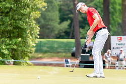 May 4, 2019 - Charlotte, NC, U.S. - CHARLOTTE, NC - MAY 04: Martin Laird putts on the 3rd green during the third round of the Wells Fargo Championship at Quail Hollow on May 4, 2019 in Charlotte, NC. (Photo by William Howard/Icon Sportswire) (Credit Image: © William Howard/Icon SMI via ZUMA Press)