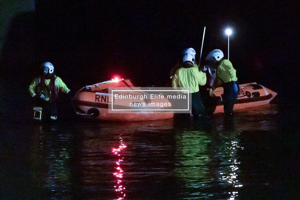H.M. Coastguards search near the harbour, Port Seton, 19 September 2020; H.M. Coastguards search in the dark, looking for someone who has possibly fallen in the water.<br /> <br /> (c) Chris McCluskie   Edinburgh Elite media