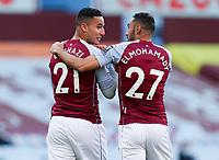 Football - 2020 / 2021 Premier League - Aston Villa vs West Bromwich Albion - Villa Park<br /> <br /> Anwar El Ghazi of Aston Villa celebrate scoring the 1st goal with Ahmed Elmohamady