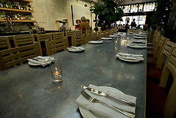 A community dining table at Cala, the first U.S. restaurant from Mexican chef Gabriela Camara, photographed Monday, April 4, 2016, in San Francisco, Calif. (Photo by D. Ross Cameron)