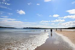 South Beach, Tenby, Pembrokeshire South Wales July 2021