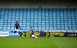 Jed Wallace of Millwall celebrates scoring a goal to make it 1-0 in front of an empty stand - Mandatory by-line: Robbie Stephenson/JMP - 07/04/2018 - FOOTBALL - The Den - London, England - Millwall v Bristol City - Sky Bet Championship