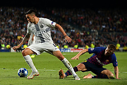 October 24, 2018 - Barcelona, Spain - Ivan Rakitic and Matias Vecino during the match between FC Barcelona and Inter, corresponding to the week 3 of the group stage of the UEFA Champions Leage, played at the Camp Nou Stadium, on 24th October 2018, in Barcelona, Spain. (Credit Image: © Joan Valls/NurPhoto via ZUMA Press)