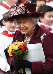 Members of The Royal Family attend the Commonwealth Day Observance Service at Westminster Abbey, London, UK, on the 12th March 2018. 12 Mar 2018 Pictured: Queen, Queen Elizabeth. Photo credit: James Whatling / MEGA TheMegaAgency.com +1 888 505 6342