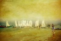Sea Fog & Sailing Boats at Priory Bay