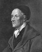 Johann Kaspar Lavater (1741-1801), Swiss physiognomist and theologian.   Physiognomy is the art of reading psychological traits fromphysical characteristics.  From  'Essays in Physiognomy' by J K Lavater.  Early 19th century English edition.