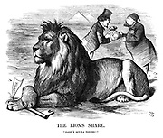 """The Lion's Share. """"Gare a qui la touche!"""""""