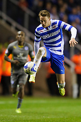 Chris Gunter (WAL) of Reading controls the ball - Photo mandatory by-line: Rogan Thomson/JMP - 07966 386802 - 14/04/2014 - SPORT - FOOTBALL - Madejski Stadium, Reading - Reading v Leicester City - Sky Bet Football League Championship.