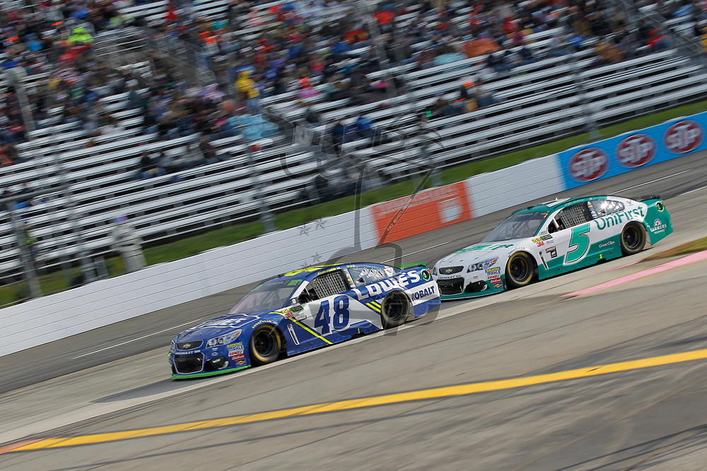 October 29, 2017 - Martinsville, Virginia, USA: \Jimmie Johnson (48)\ battles for position during the First Data 500 at Martinsville Speedway in Martinsville, Virginia.