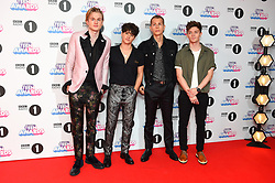 The Vamps attending the BBC Radio 1 Teen Wards, at Wembley Arena, London. Picture date: Sunday October 22nd, 2017. Photo credit should read: Matt Crossick/ EMPICS Entertainment.