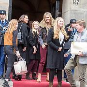 NLD/Amsterdam/20180203 - 80ste Verjaardag Pr. Beatrix, Koning Willem Alexander , koningin Maxima, prinses Ariane, prinses Alexia, prinses Amalia