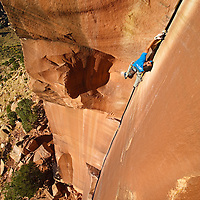 Josh Morris Climbing on The Incredible Hand Crack, 5.10, Indian Creek, Utah