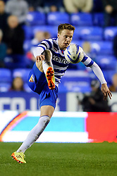 Chris Gunter (WAL) of Reading in action - Photo mandatory by-line: Rogan Thomson/JMP - 07966 386802 - 14/04/2014 - SPORT - FOOTBALL - Madejski Stadium, Reading - Reading v Leicester City - Sky Bet Football League Championship.