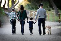 9 November 2014: Sean, Hillary, Will (8) and Wyatt (3) Skahan family photo shoot in Yorba Linda, CA.